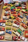 Box of Matchbox Cars and Trucks