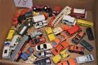 Box of old Matchbox Cars and Trucks