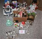 Christmas Snowman Decorations and 2 Piggy Banks