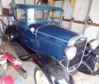 1931 Model A Ford, blue, starts and runs good.