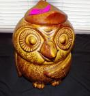 Brown owl cookie jar, 10 inches high, 7 inches diameter