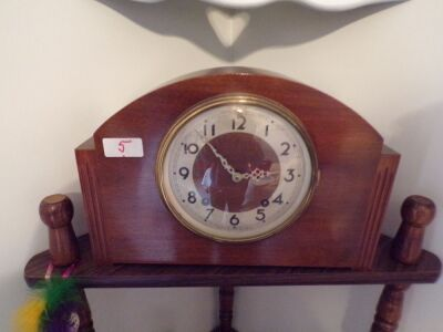 "Plymouth Mantle Clock, 12"" Wide, 8"" Tall"