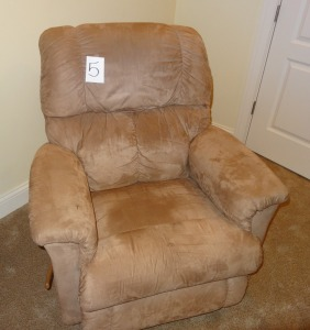 Suede La-Z-Boy Swivel Recliner - great condition