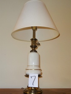 Ceramic Lamp with Brass Bottom