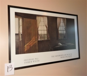 "Andrew Wyeth Print - Framed - 35""x 23"""