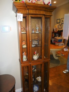 Curio Cabinet - lighted - glass front - 70-75 yrs old (cabinet only - not contents)