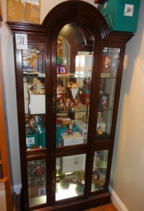 "China Cabinet - lighted - glass front - 40""w x 77""h (cabinet only - not contents)"