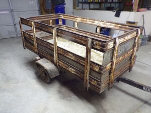 Two Wheel Yard Trailer with side racks.  Click on the photo to see additional pictures.