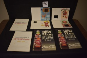 (8) COKE ADVERTISING AND CHRISTMAS CARDS