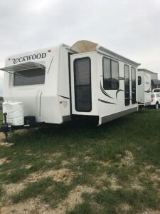 2011 31 Ft Rockwood Camper with a double super slide