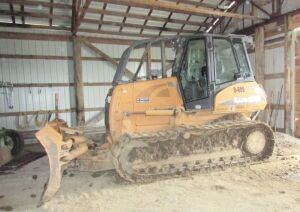 2008 Case 1150K dozer, D-609 XLT Series 3 with cab, 6 way blade, Serial #N8DC00295X, 7535 hours.