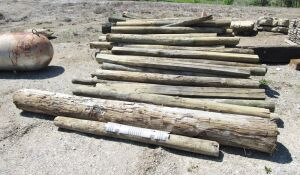 Assorted Fence Posts and Landscape Timbers