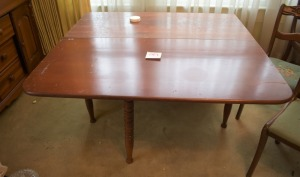 Antique Gate Leg Table with 4 Chairs