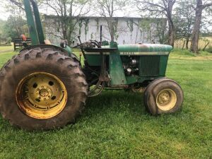 John Deere 2030 Tractor-3,380 hours, we have not had this tractor running, loader brackets with tool box and hydraulic controls will go with the loader.