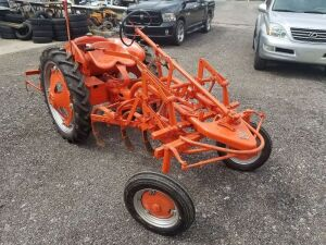 Allis Chalmers G cultivating tractor, the spider. In really good shape runs and drives.