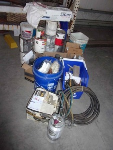 Paint Spray Gun and Misc. (must take all)