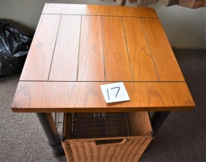 "End Table with Storage Basket-24"" W x 22"" D x 20"" H"
