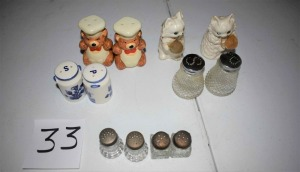 Assorted Salt and Pepper Shakers-12 pieces