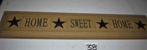 Home Sweet Home Plaque-36""