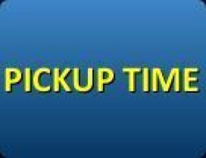 PICKUP TIME: PICKUP WILL BE FRIDAY NOVEMBER 6TH FROM 11 AM UNTIL 3 PM. WHEN CONTACTED REGARDING METHOD OF PAYMENT, YOU MAY SCHEDULE A PARTICULAR TIME TO PICKUP YOUR ITEMS.