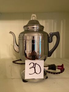 "Fabreware Coffee Pot, 13"" H"