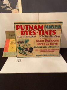 Antique Putnam Dyes-Tints Set