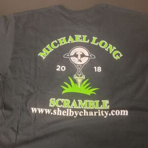 Shelby County Charity Black Tee Shirt from 2018. Size Large. Never Worn.