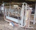 Mobile Cattle Chute, Tire is Fixed