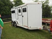 FeatherLite 16 ft. All aluminum 2 horse trailer escape door on both sides & FeatherLite 16 ft. All aluminum 2 horse trailer escape door on ... Pezcame.Com