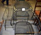 3 pc Black Wrought Iron Set, 2 chairs and side table
